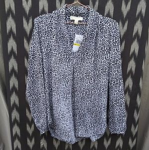 MICHAEL KORS leopard blouse NWT